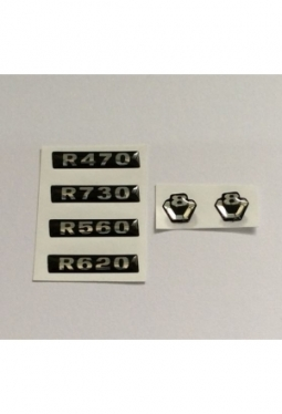 Sticker Set Scania V8 R470/R620 chrom