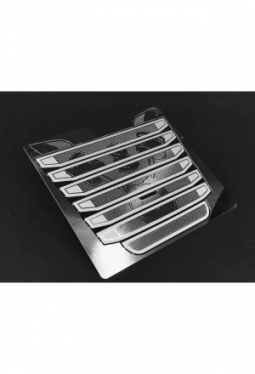 Stainless Steel Chrome V8 Grill Vent T..