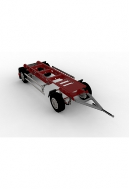 Trailer 2axles v2 for Tamiya and other..